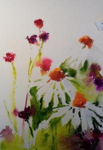 gouache and watercolour
